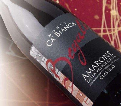 bottiglia di Amarone Classico Monte Ca Bianca