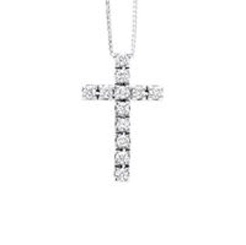 croce in oro bianco