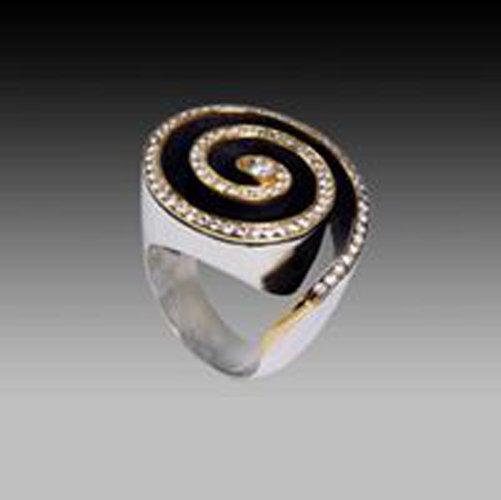 anello con cerchi concentrici
