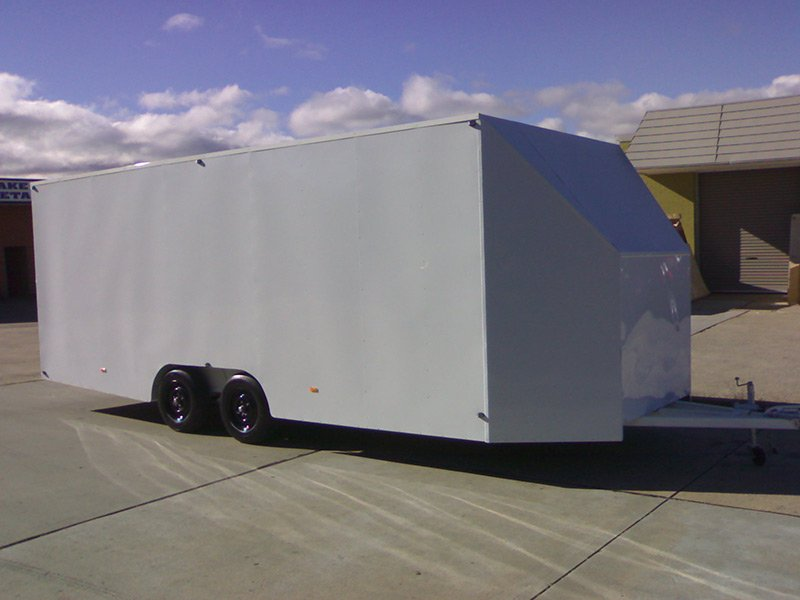 better trailers newly built white trailer