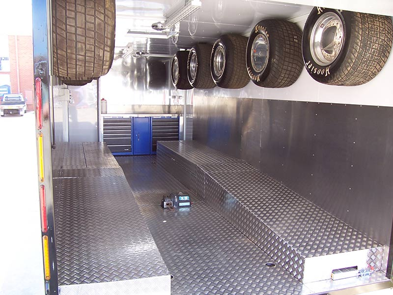 better trailers trailer interior with wheels