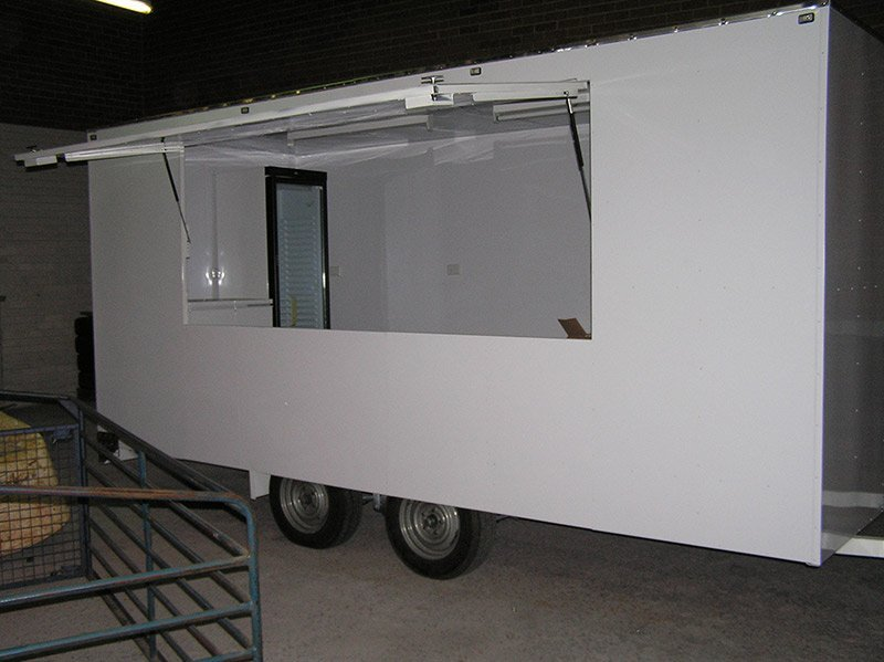 better trailers white trailer interiors glass door with opened side window