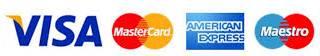Visa, MasterCard, American Express, Maestro