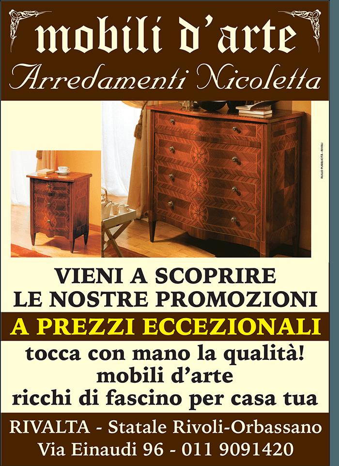 manifesto nicoletta mobili d'arte
