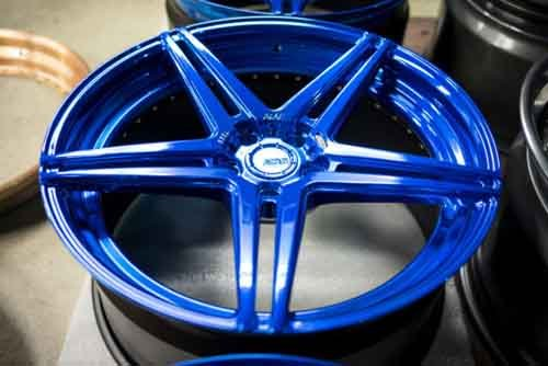 blue color wheel rim