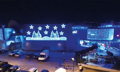 Luminarie natalizie per grandi centri commerciali