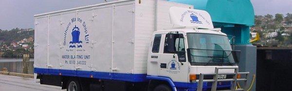 southern marine shiplift pty ltd water blating truck
