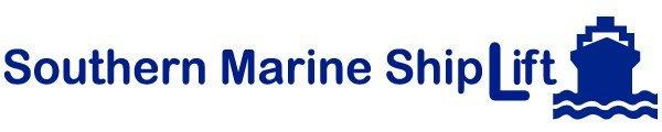 southern marine ship lift business logo