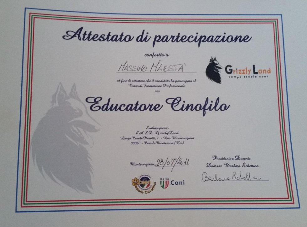 educatore cinofilo