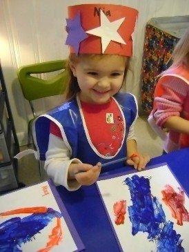 Preschool girl drawing in Mason, OH