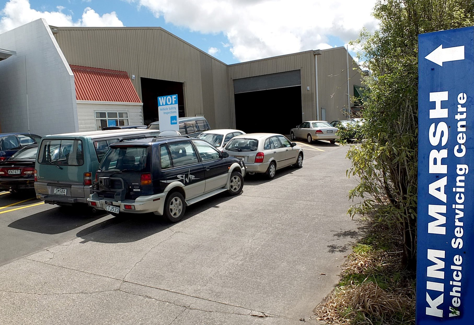 parking space at Kim Marsh vehicle servicing centre