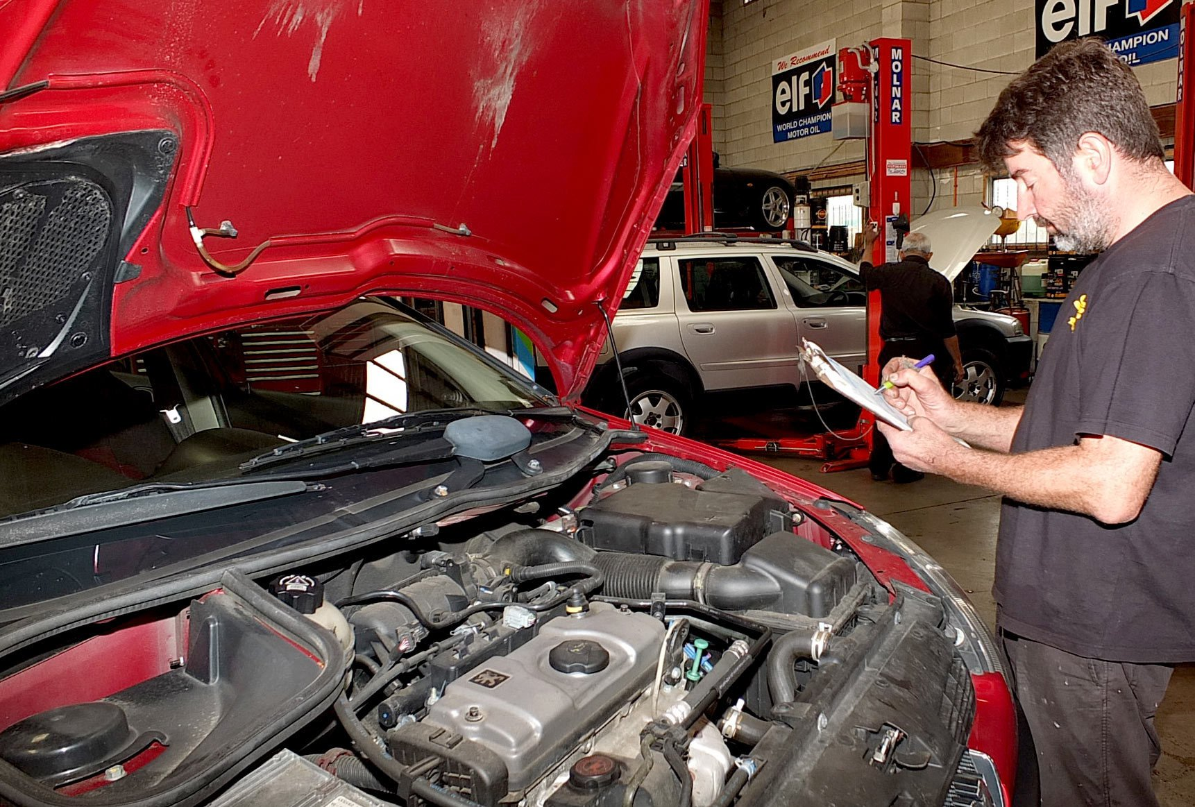 car being serviced at Kim Marsh