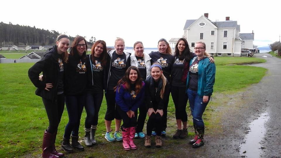 Another way for PLU women's tennis team to bond was to retreat at Camp Casey and to stay at the Alumni House.