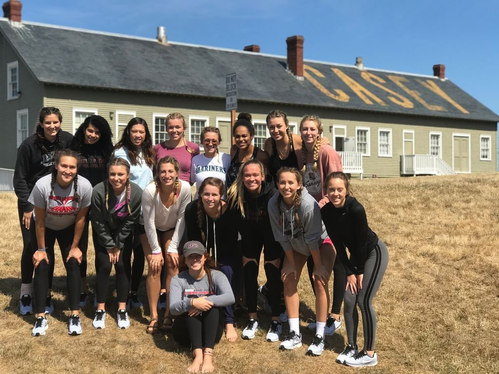 Seattle Pacific University Volleyball team visiting Camp Casey Conference Center