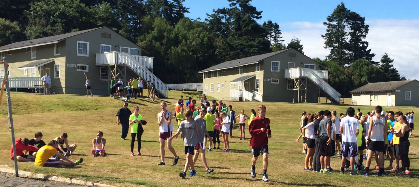 SPU Falcon Running Camp at Camp Casey!