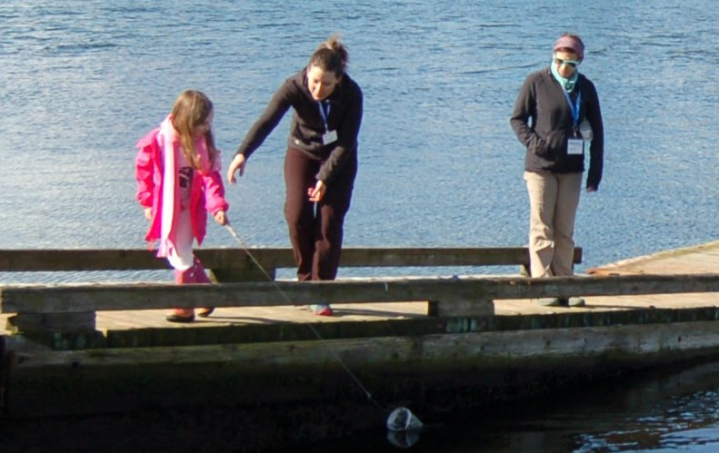 Camp Casey outdoor education plankton tow program.
