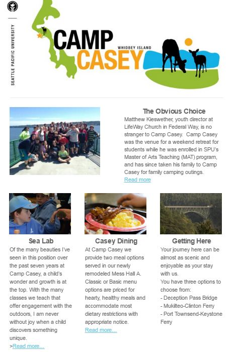 Camp Casey Monthly Newsletter