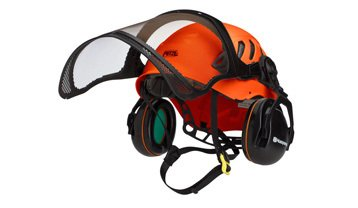 Husqvarna protective hard hat with ear defenders