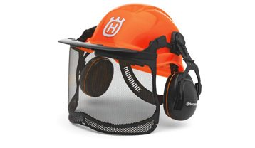Husqvarna protective hard hat and visor