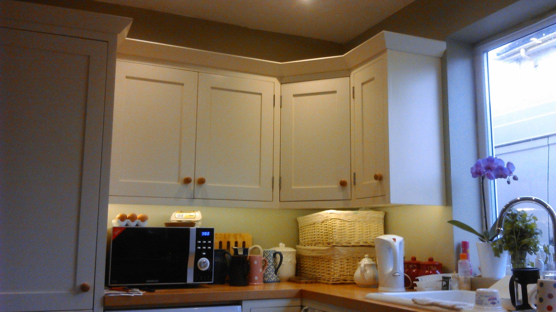 shaker style kitchen corner unit
