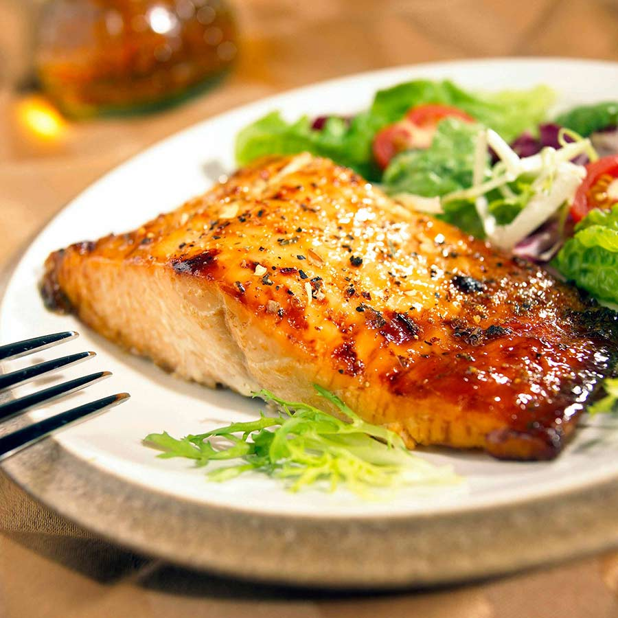 temptations catering salmon steak