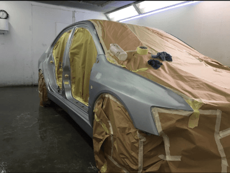 car ready for paint