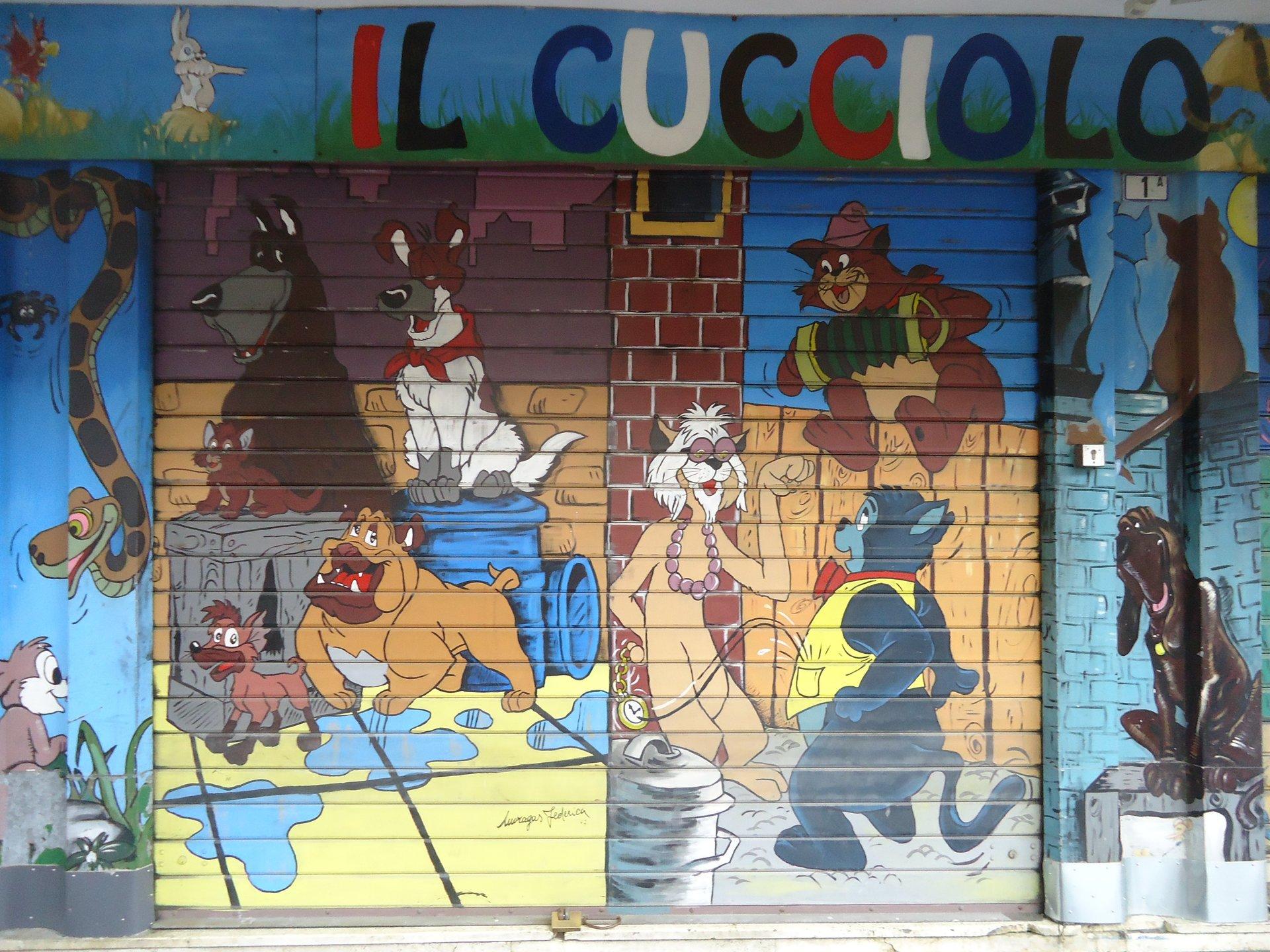 disegno della facciata del negozio di animali