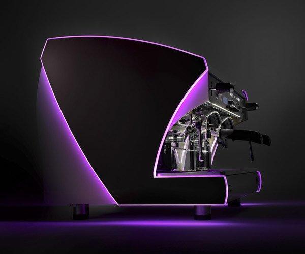 macchina da caffè professionale viola