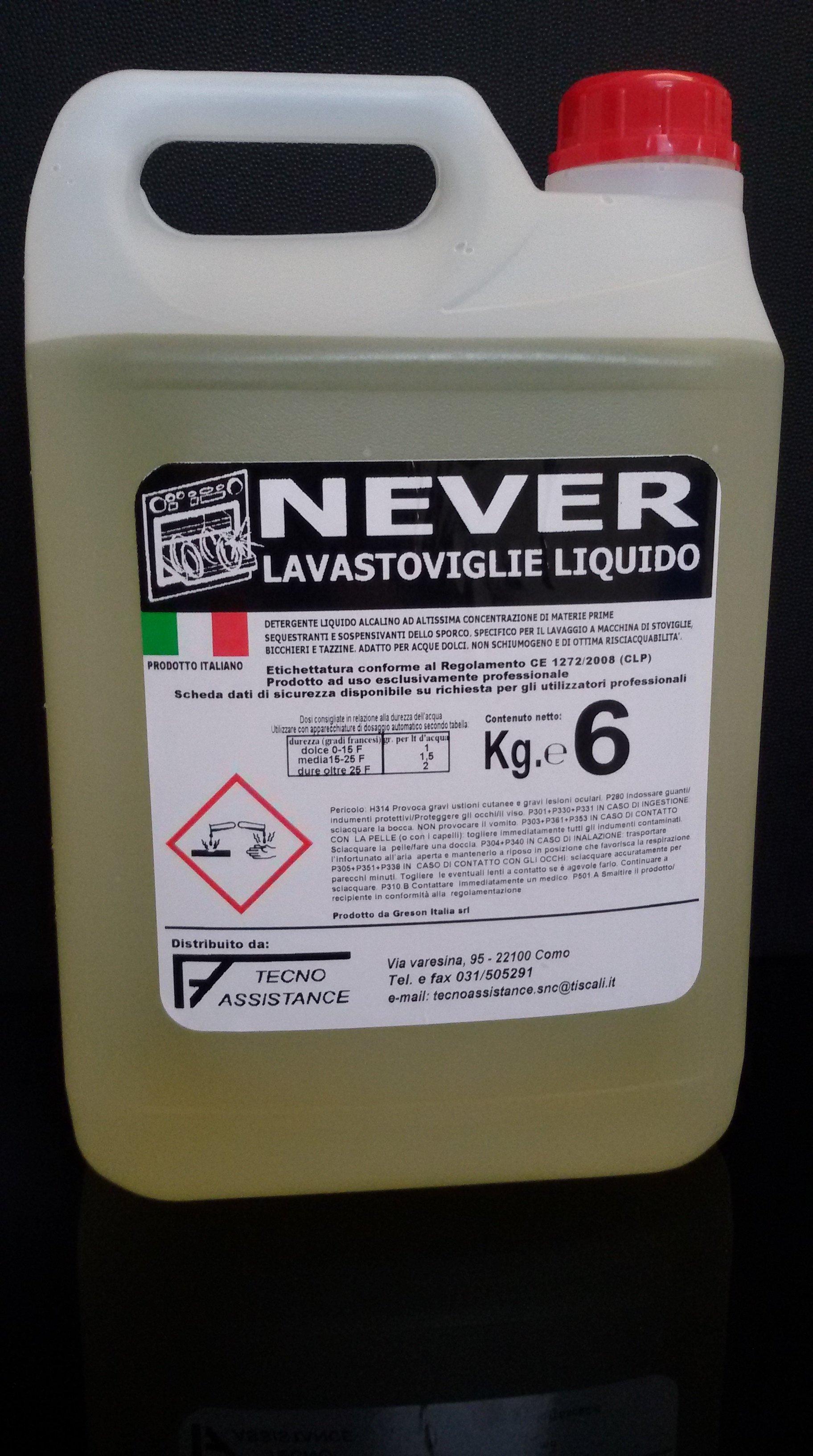 prodotto da lavastoviglie liquido