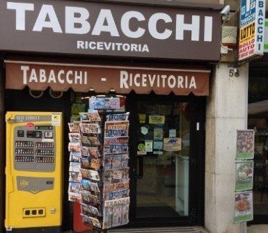 distributore automatico sigarette, cartoline