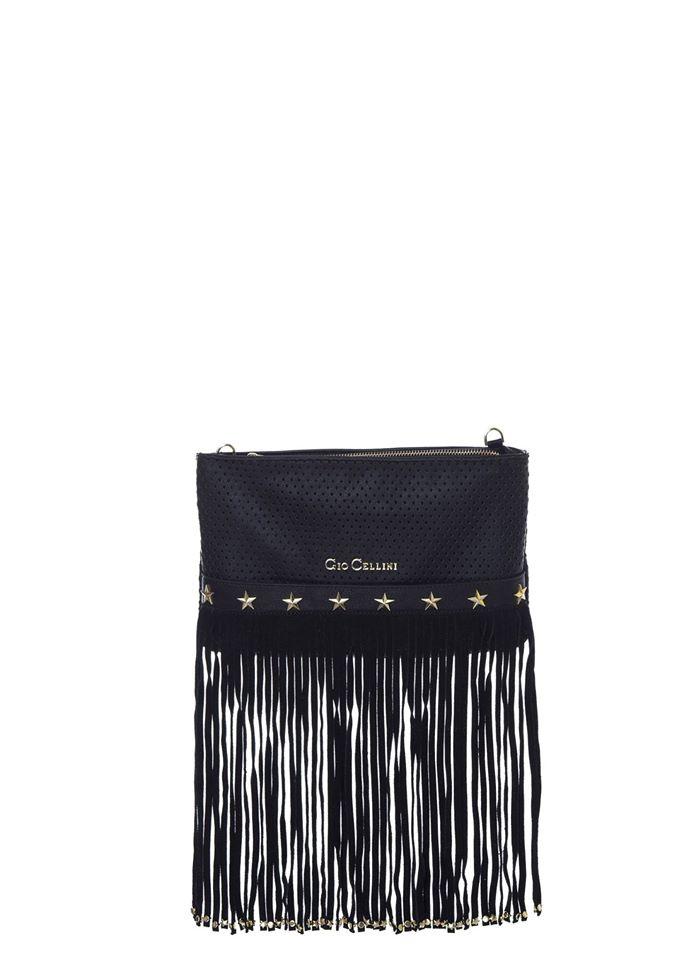 una borsetta con frangette della marca Gio Cellini