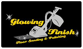 glowing finish floor sanding and polishing logo