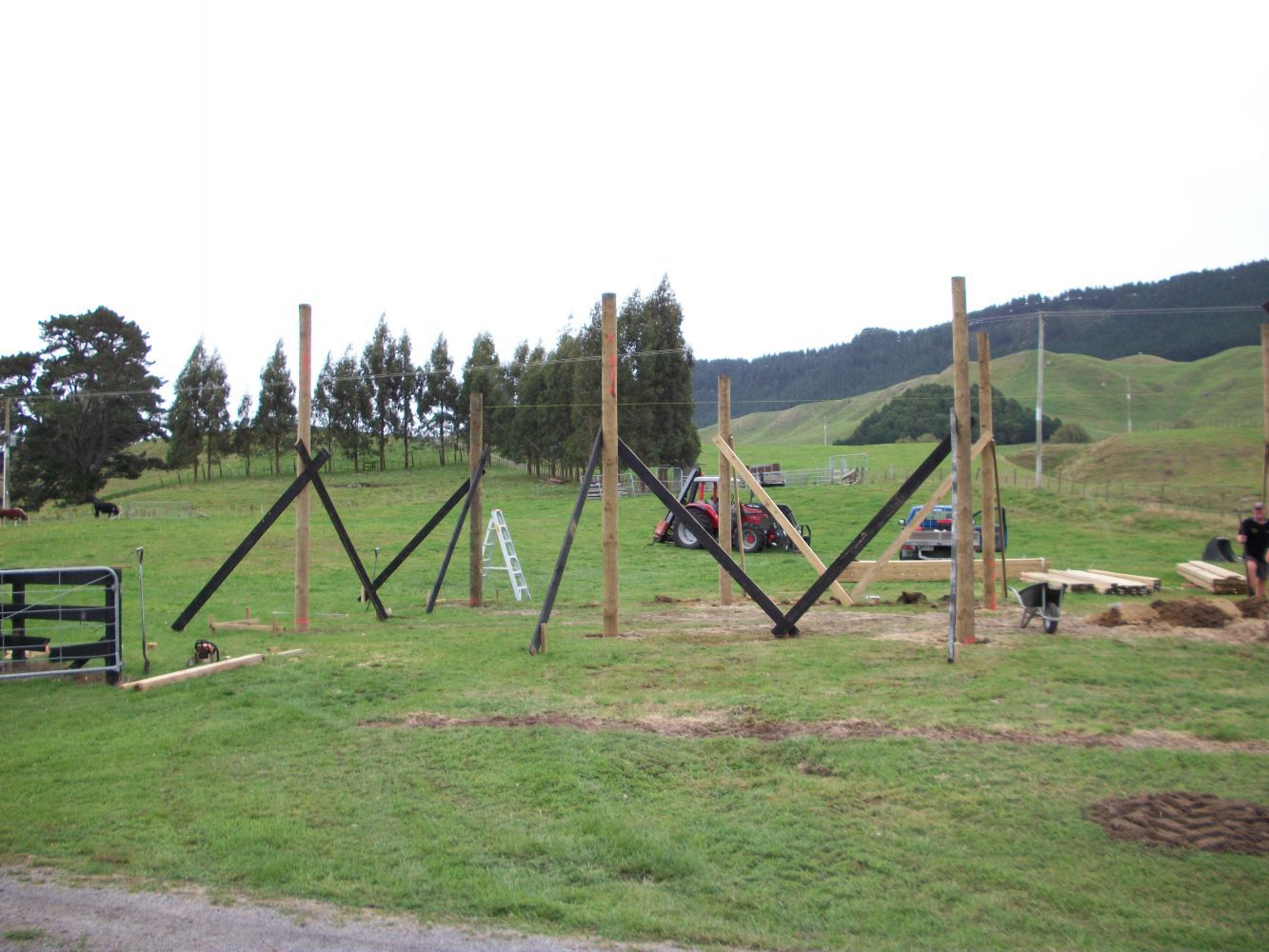 Fence built by building services in Waikato