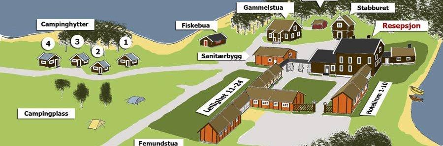 Femundtunet - hotell, hytter, leiligheter og campingplass ved Femunden i Engerdal