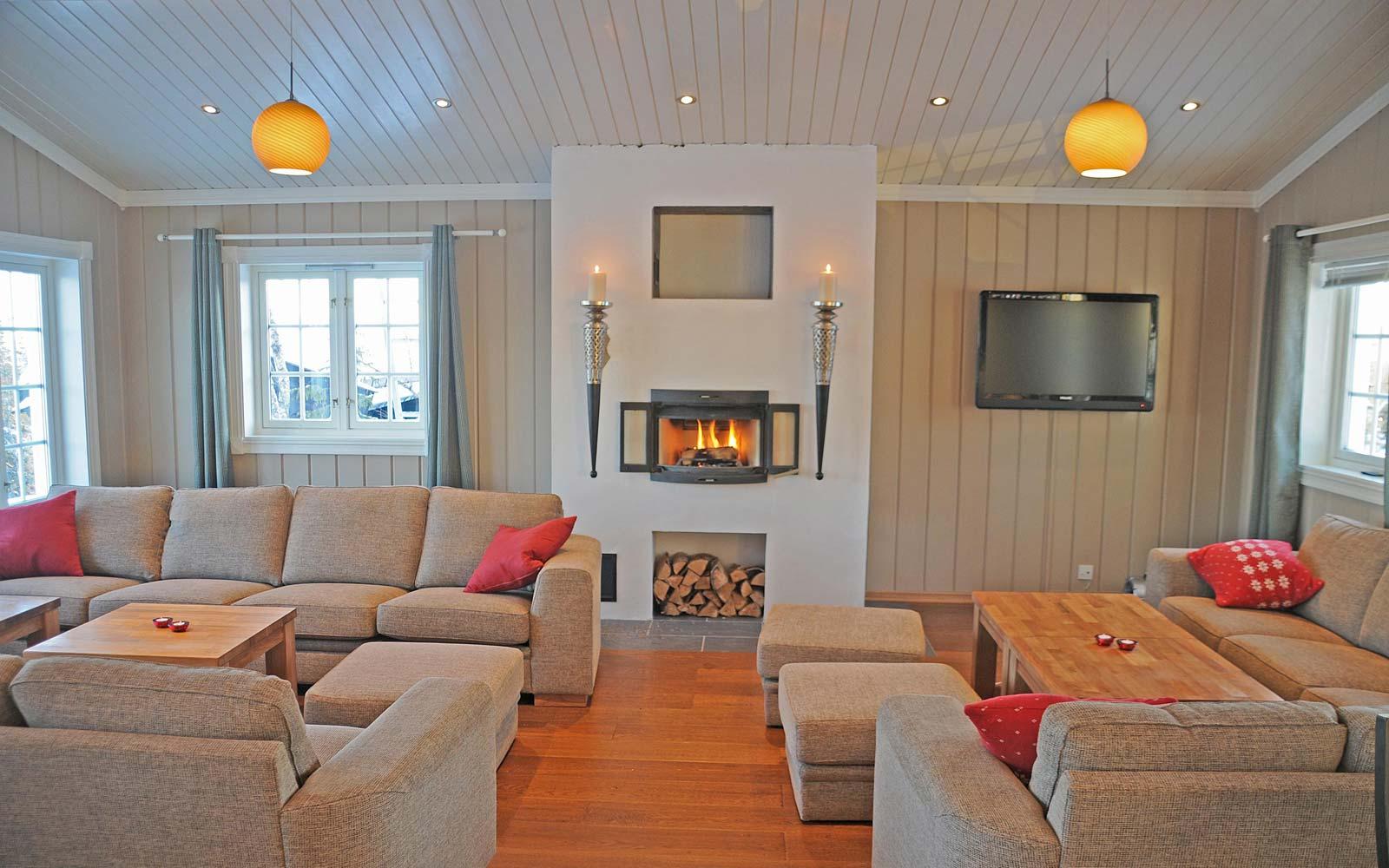 Stuen i hytte 830 - Sjumilskogen booking Trysil
