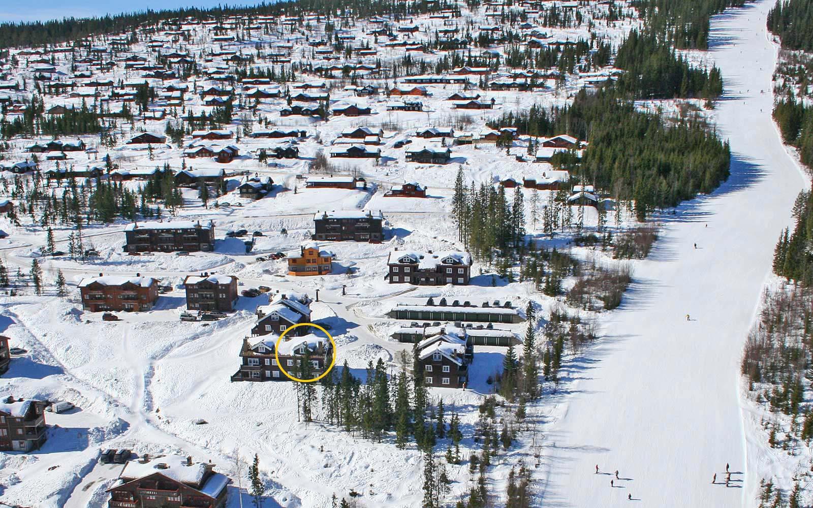 Beliggenhet til leilighet Knettlia 748C - Sjumilskogen booking Trysil