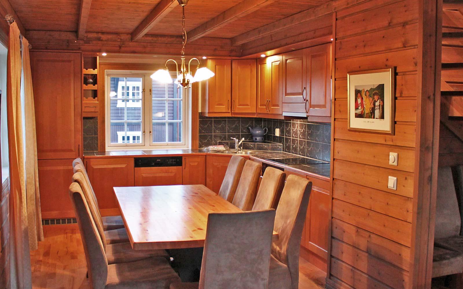 Kjøkkenet i leilighet Knettlia 749D - Sjumilskogen booking Trysil