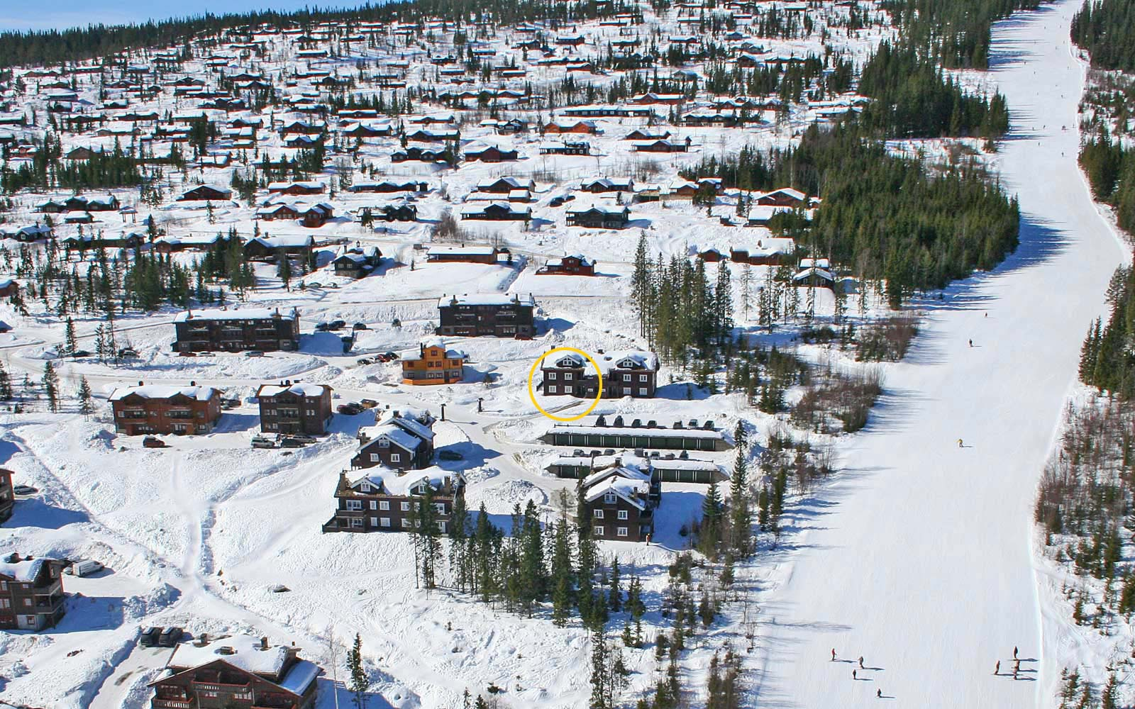 Beliggenhet leilighet Knettlia 750A - Sjumilskogen booking Trysil