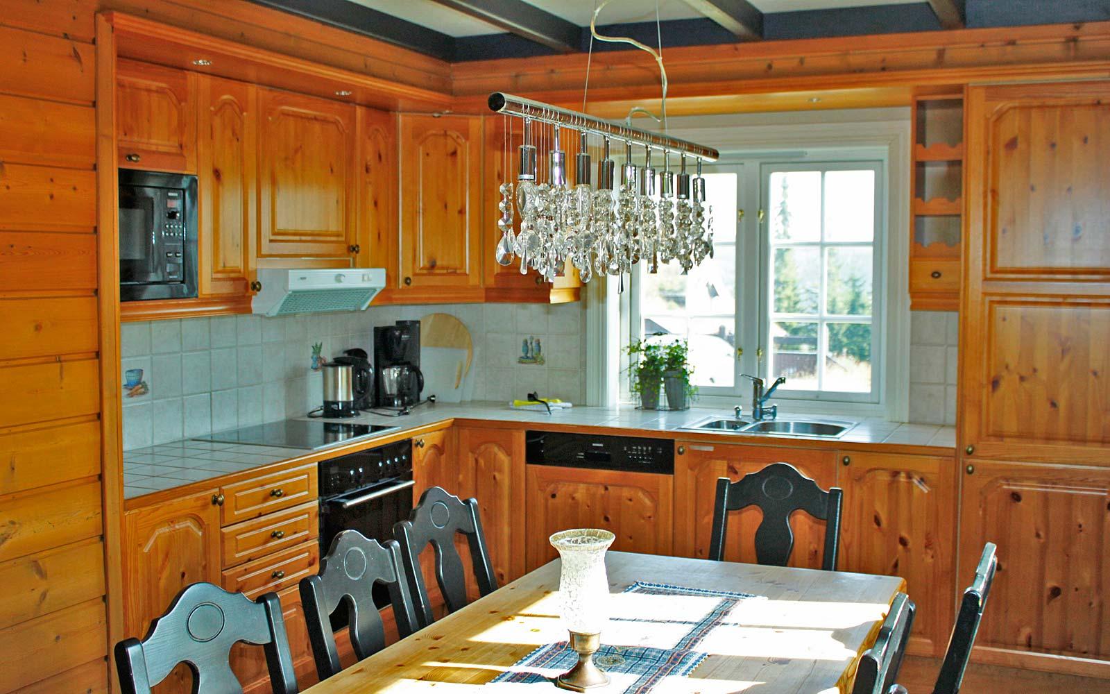 Kjøkken i leilighet Knettlia 750A - Sjumilskogen booking Trysil