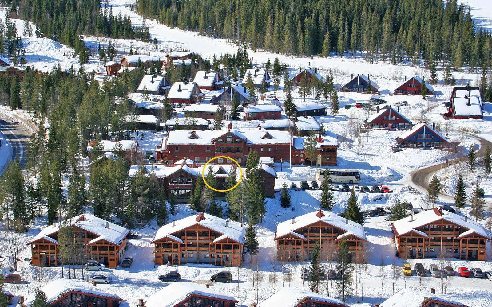Beliggenhet leilighet Kvilsten - Sjumilskogen booking Trysil Turistsenter