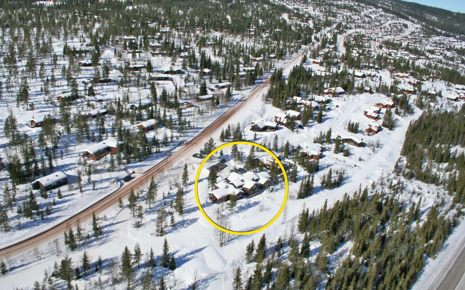 Beliggenhet hytte Mostuggua - Sjumilskogen booking Trysil