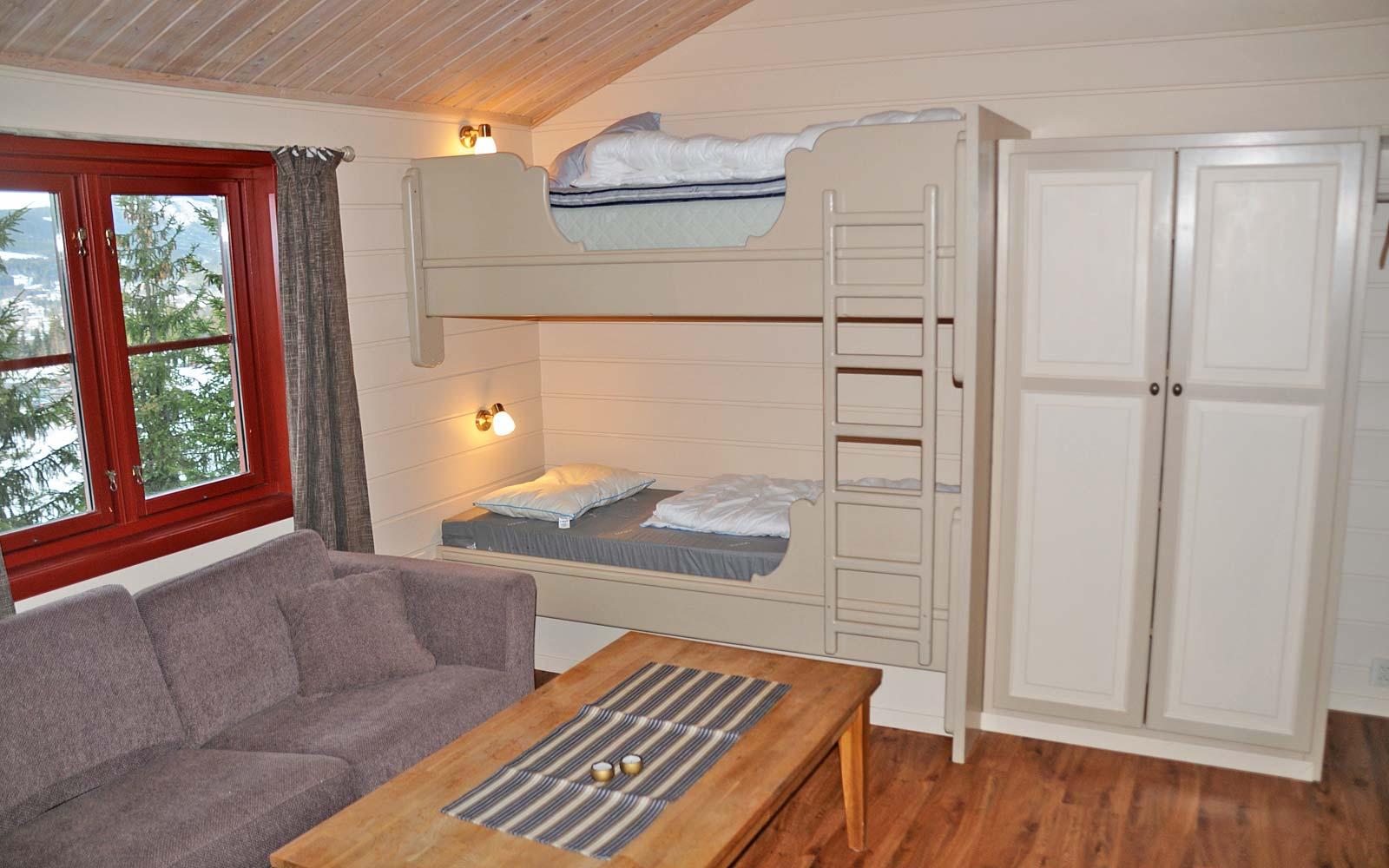 Køyeseng leilighet Risbiten Sjumilskogen booking Trysil