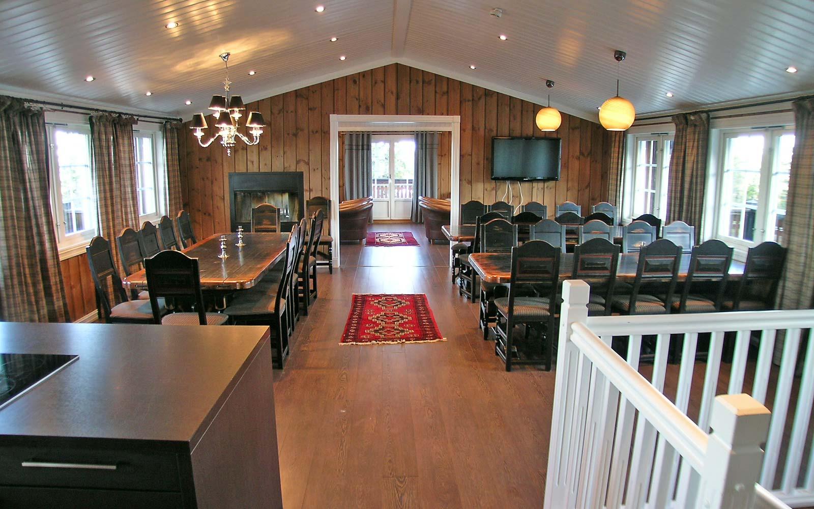 Stue 1 Stanarhaugen stor hytte i Sjumilskogen booking Trysil