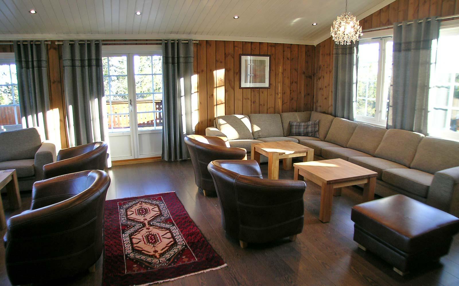 Stue 3 Stanarhaugen stor hytte i Sjumilskogen booking Trysil