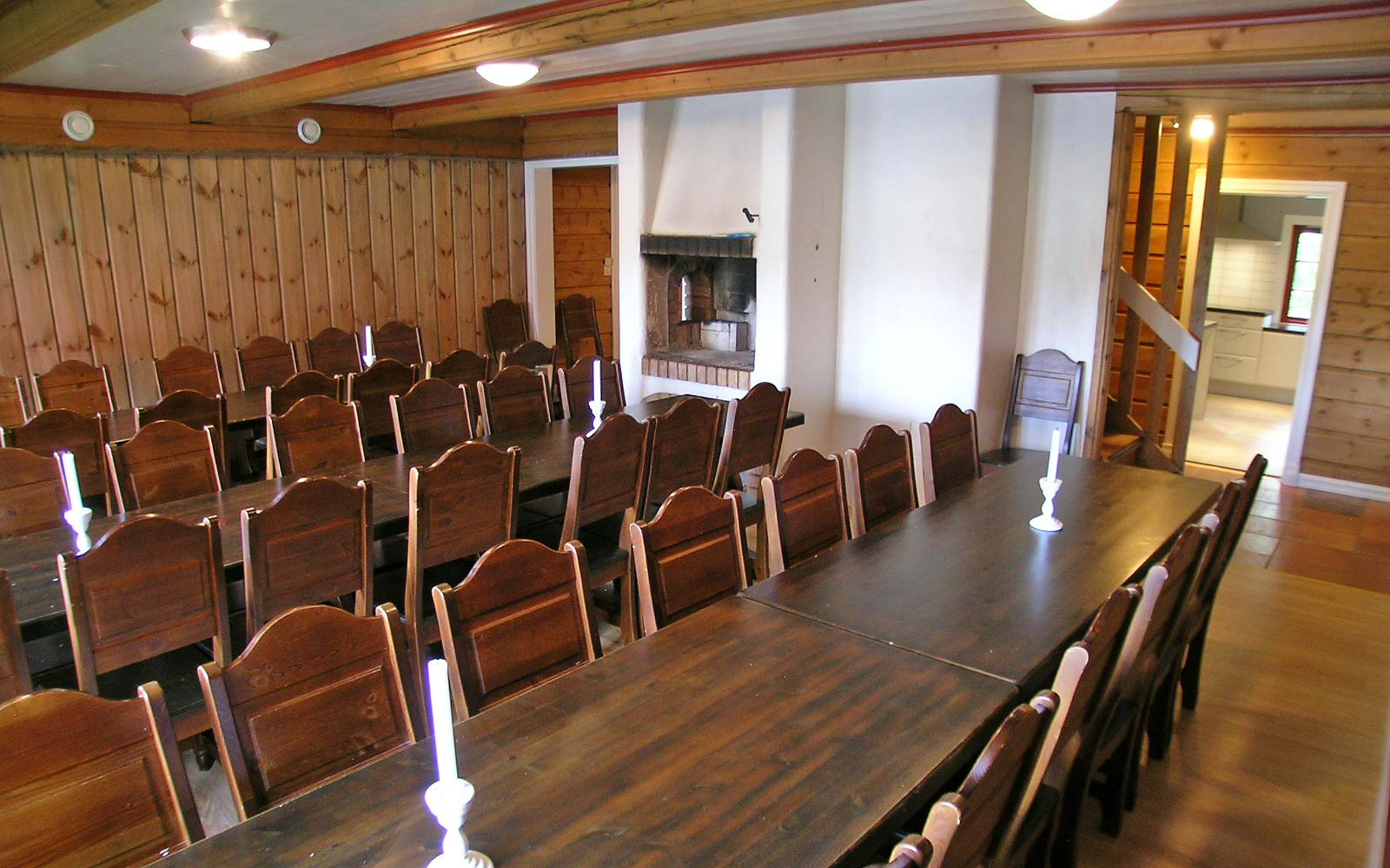 Spisesal hytte Vesleskogen Sjumilskogen booking Trysil