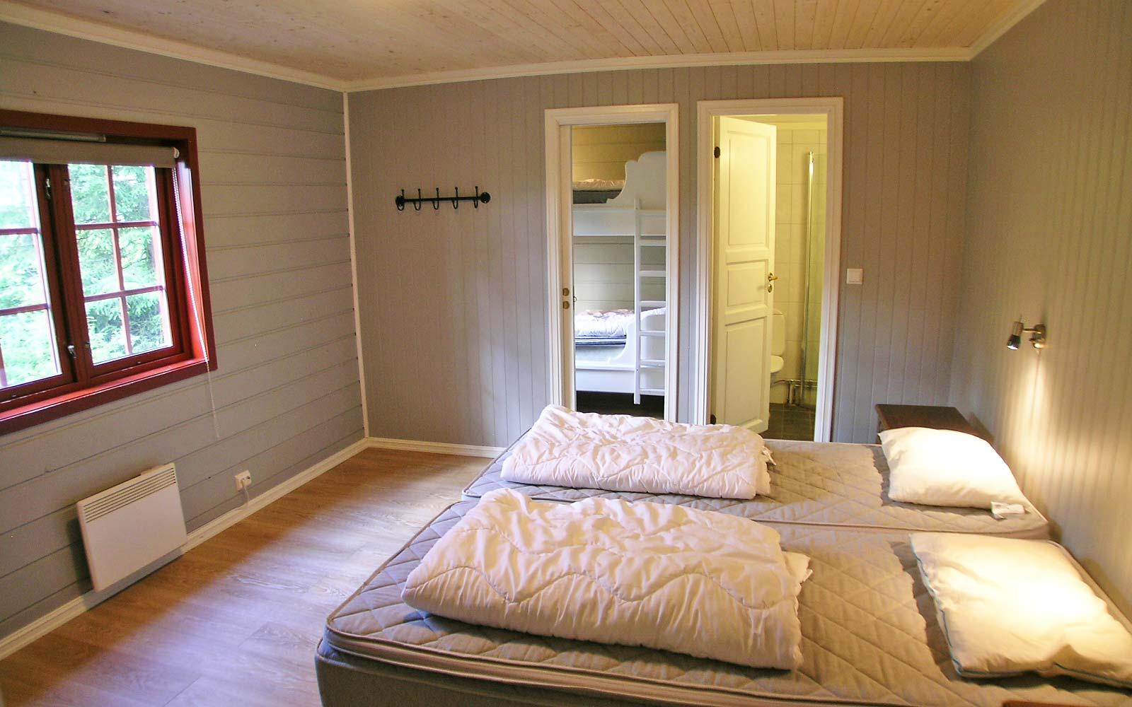 Soverom Pulken hytte Vesleskogen Sjumilskogen booking Trysil