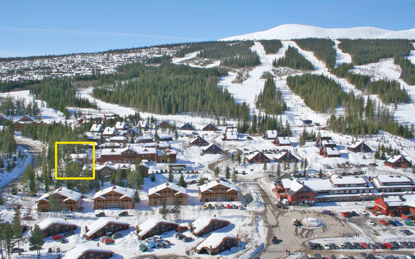 Beliggenhet hytte Vesleskogen - Sjumilskogen booking  Trysil
