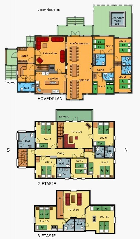Plan Villa Sole Sjumilskogen booking Trysil