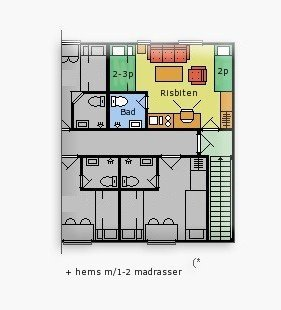 Planløsning til leiligheten Risbiten - Sjumilskogen Trysil