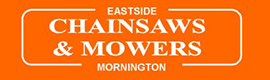 Eastside Chainsaws and Mowers lawnmower logo